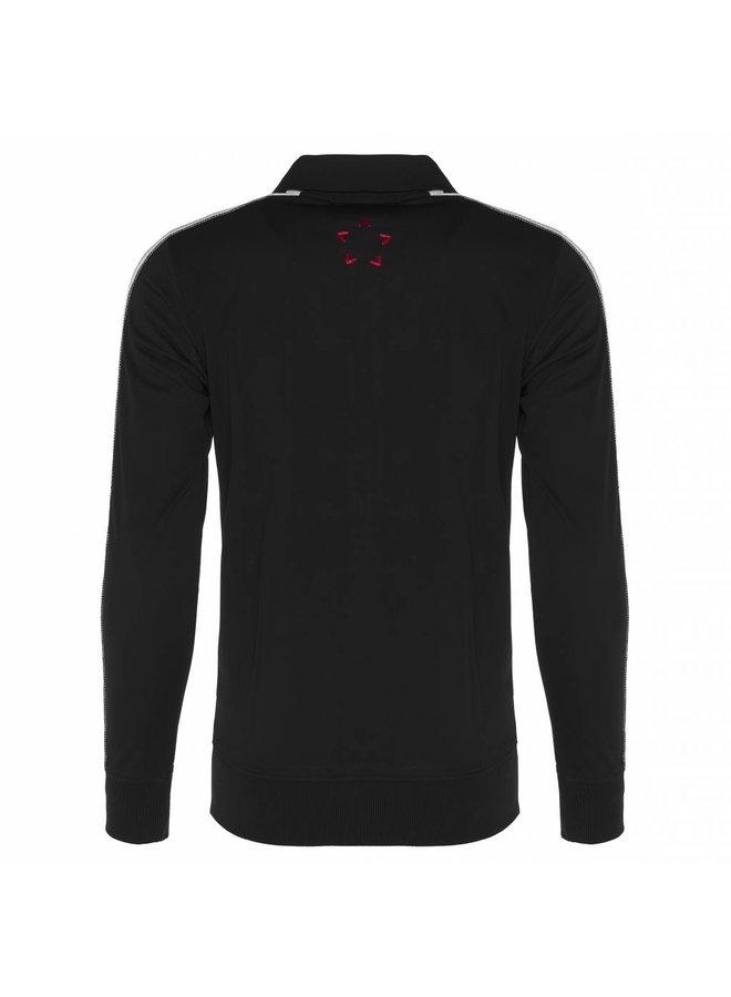 Conflict Track Jacket Knit Line Black
