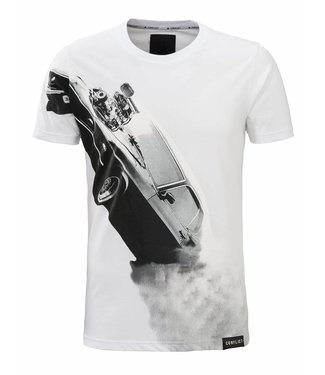 Conflict Conflict T-shirt Mustang White
