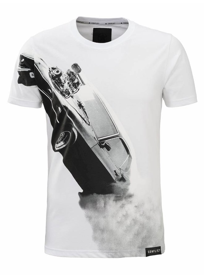 Conflict T-Shirt Mustang Weiß