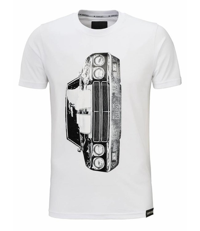 Conflict Conflict Chevrolet White T-shirt