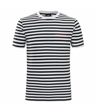 Malelions Malelions T-shirt Striped Giovanni - Black