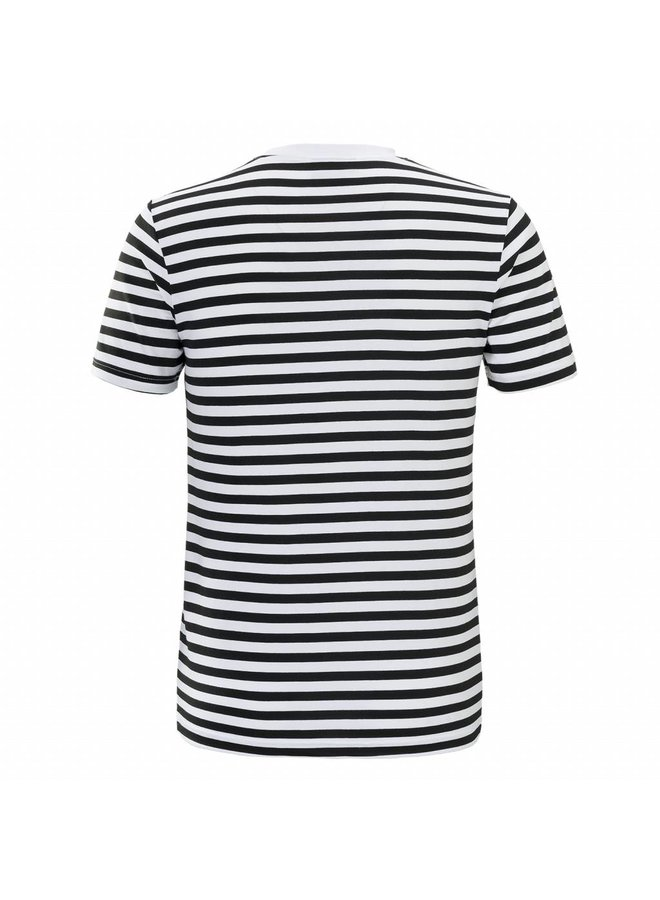 Malelions T-shirt Striped Giovanni - Black