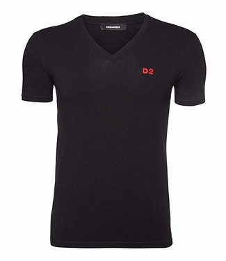 Dsquared2 Dsquared2 T-Shirt D2 V-Neck Black