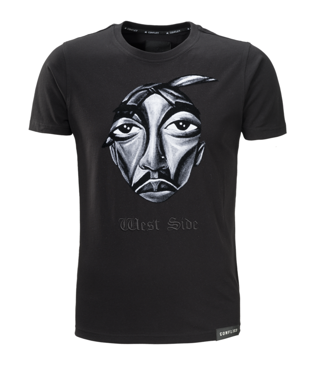 Conflict Conflict T-shirt West Side Black