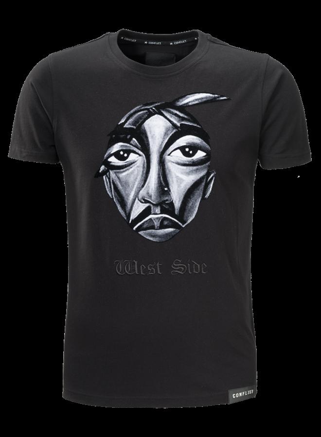 Conflict T-shirt West Side Black