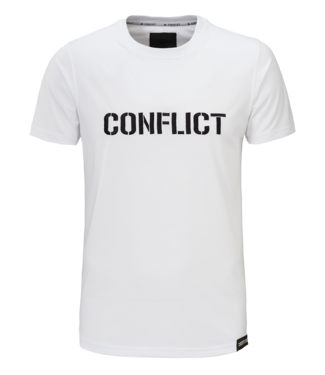 Conflict Conflict T-shirt Logo White