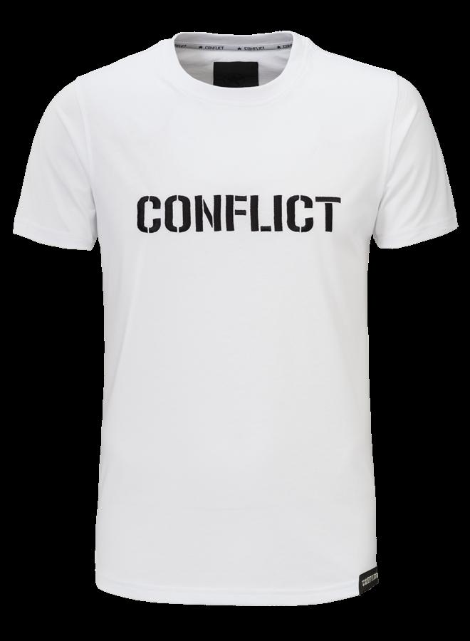 Conflict T-shirt Logo White