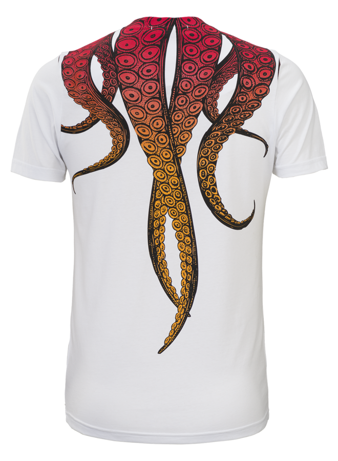 Conflict T-Shirt Octopus White