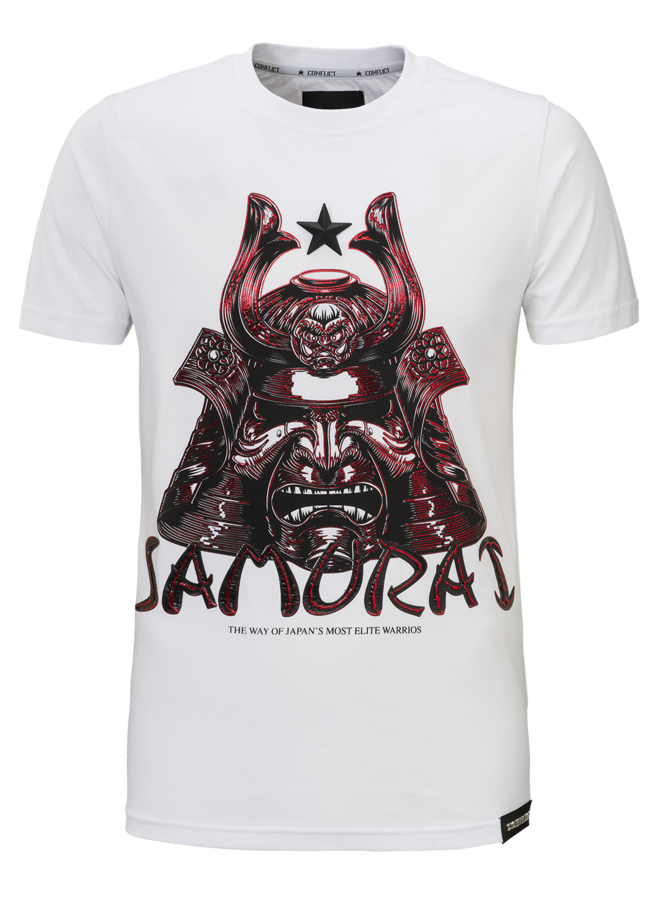 Conflict T-Shirt Samurai Weiß