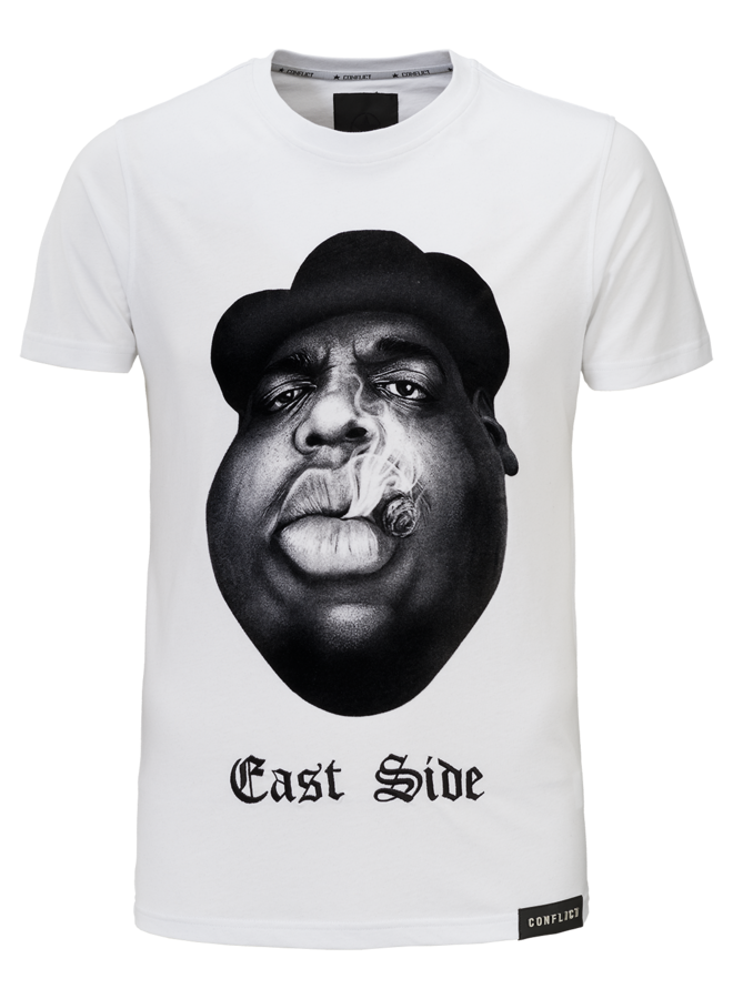 Conflict T-Shirt East Side Weiß