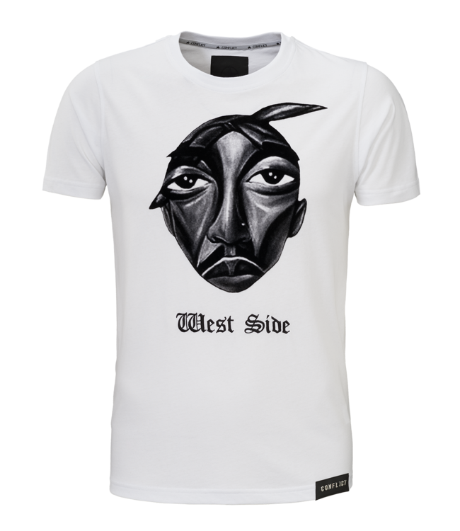 Conflict Conflict T-shirt West Side White