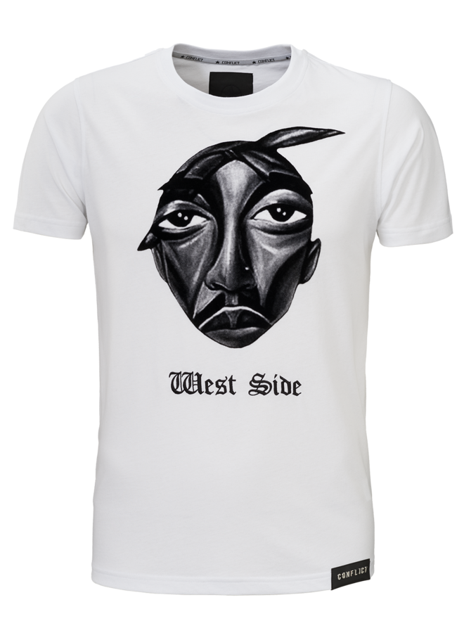 Conflict T-shirt West Side White