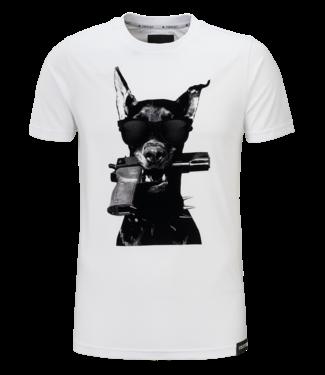 Conflict Conflict T-Shirt Dobermann White