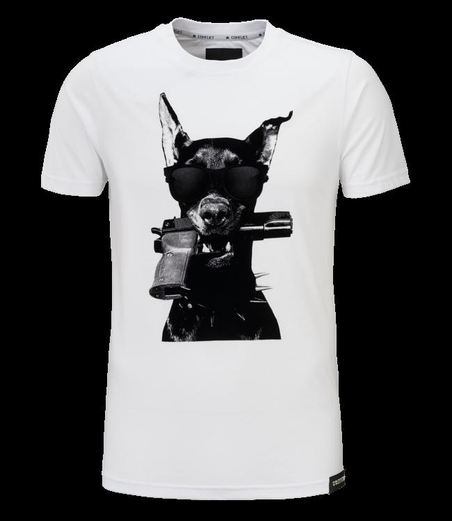 Conflict Conflict T-Shirt Doberman White