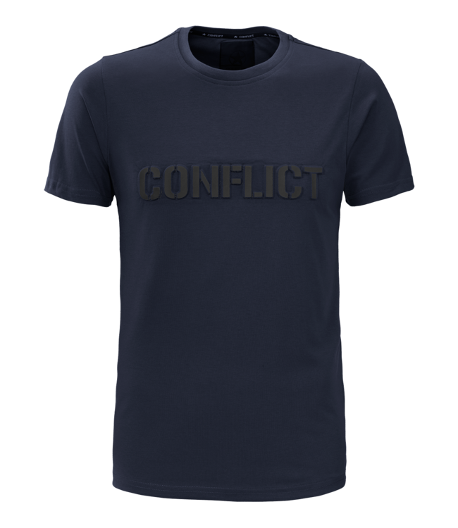 Conflict Conflict T-shirt 3D Logo Navy