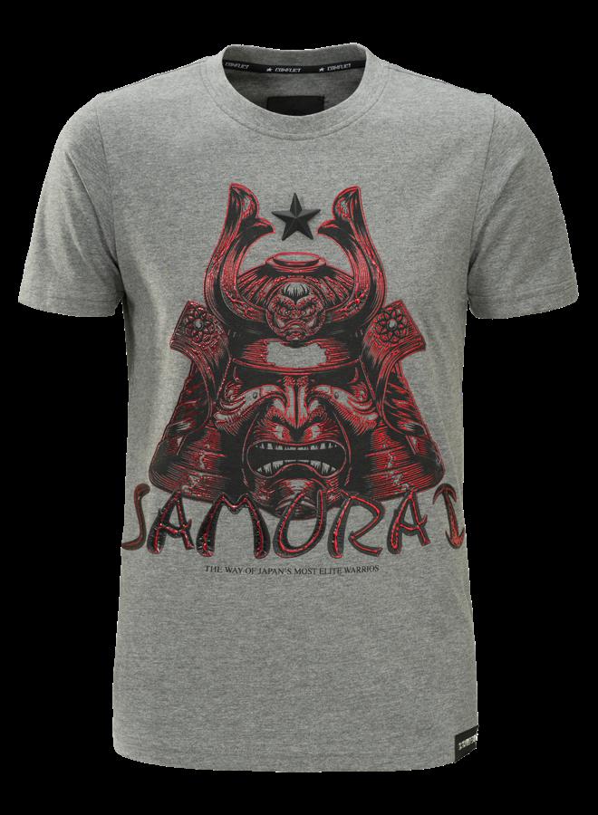 Conflict T-shirt Samurai Grey