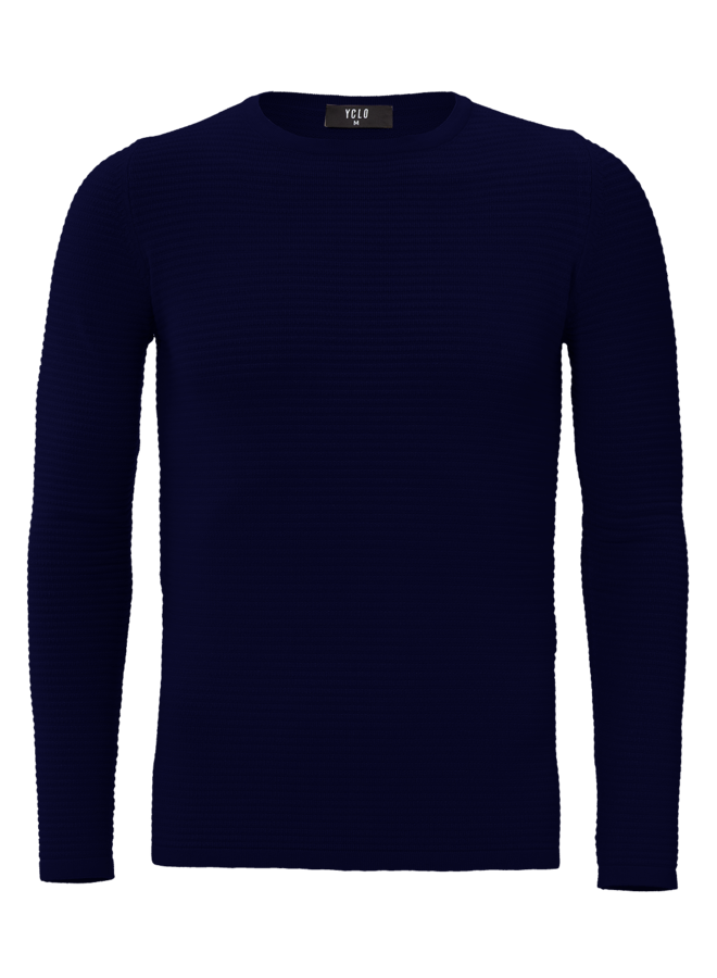 YCLO Knit Pullover Capton Navy