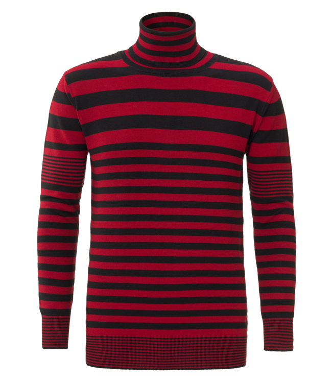 YCLO YCLO Knit Striped Light Red / Black