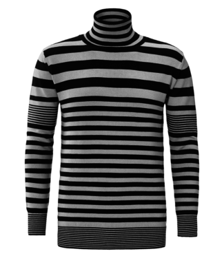 YCLO YCLO Knit Striped Light Grey/Black
