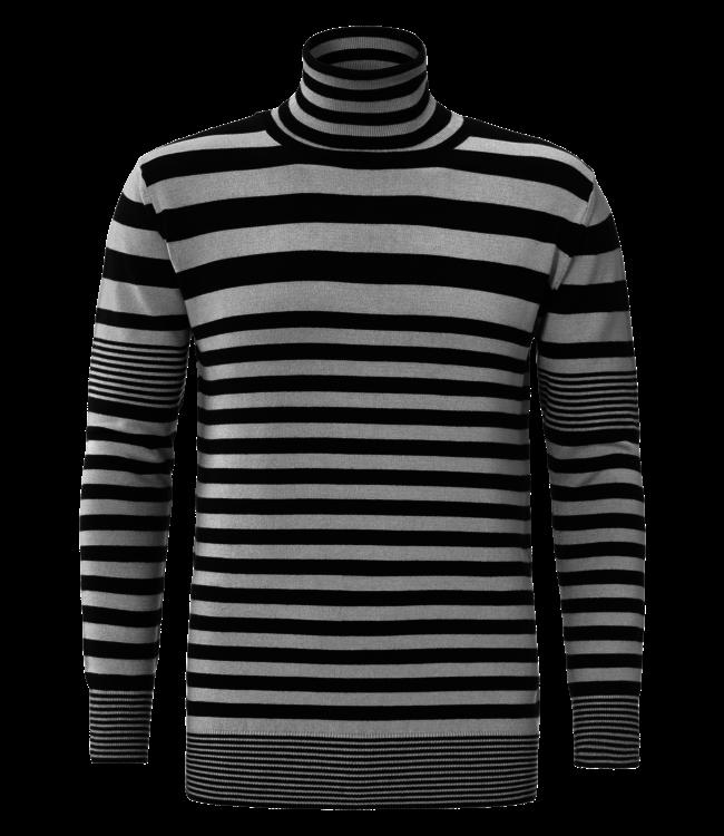 YCLO YCLO Knit Striped Light Gray / Black