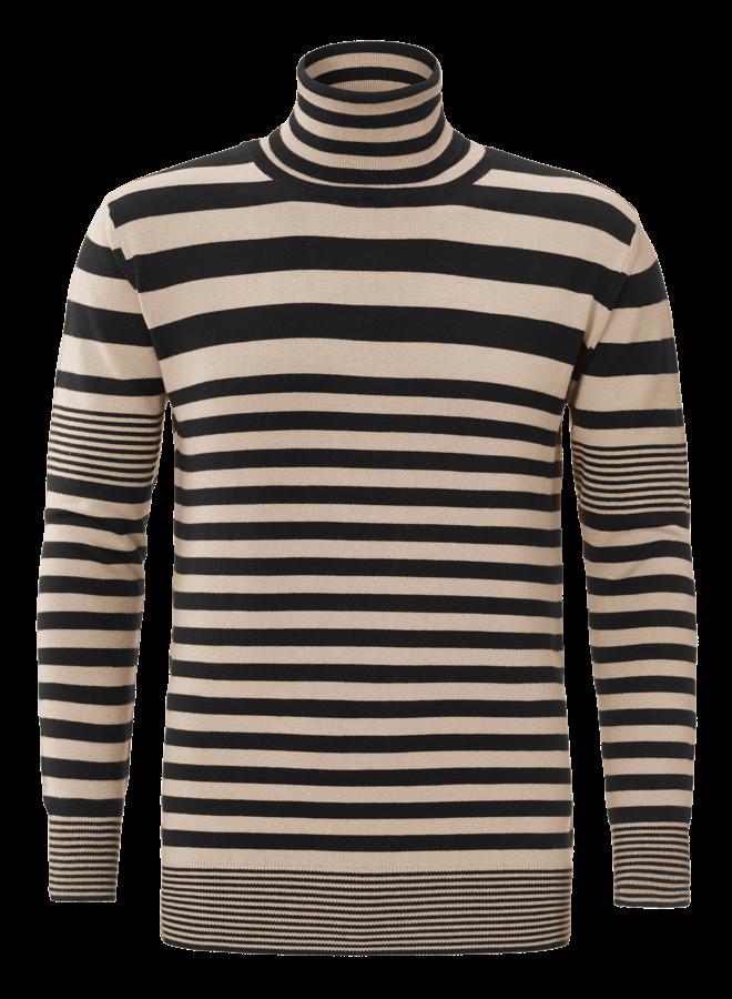 YCLO Knit Striped Beige/Black