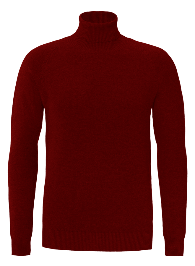YCLO Fine Knit Turtle Neck Finn Red
