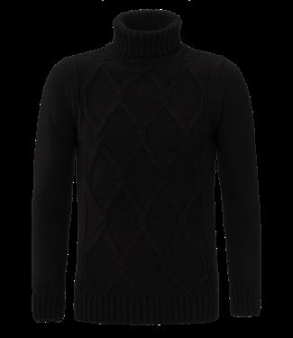 YCLO YCLO Knit Turtleneck Pullover Dimon Black