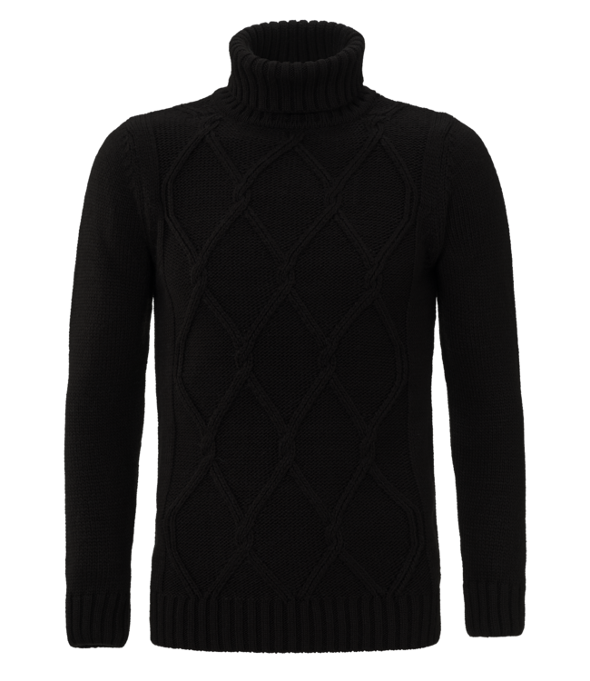 YCLO YCLO Knit Turtleneck Pullover Dimon Black