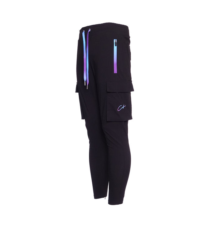 Conflict Conflict Cargo Pants Stretch Black/Purple