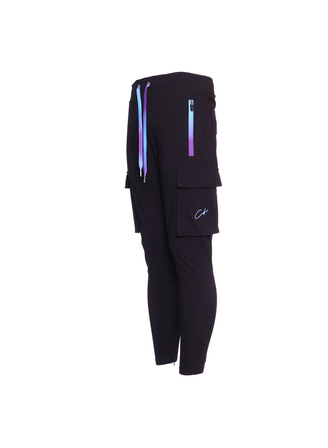 Conflict Cargo Pants Stretch Black/Purple