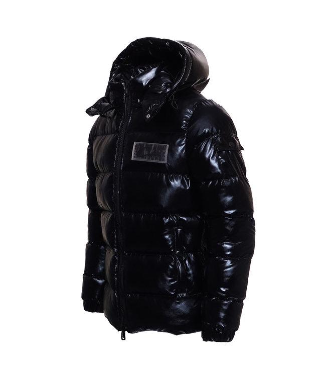 Conflict Conflict Puffer Jacket Metallic Black