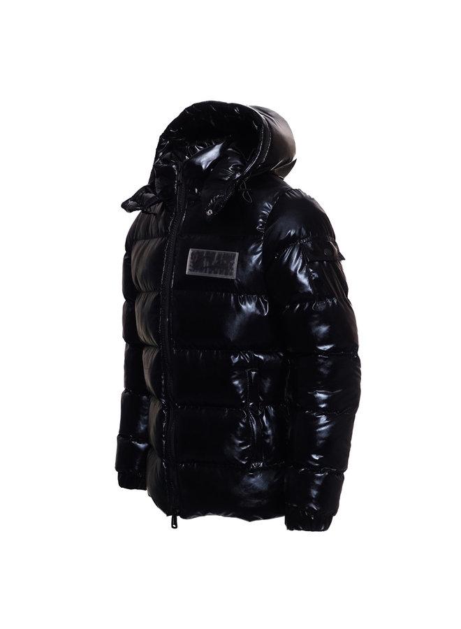 Conflict Puffer Jacket Metallic Black
