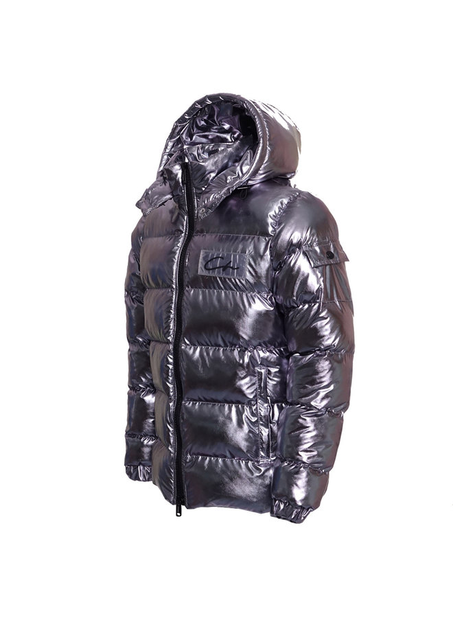 Conflict Pufferjacke Silber