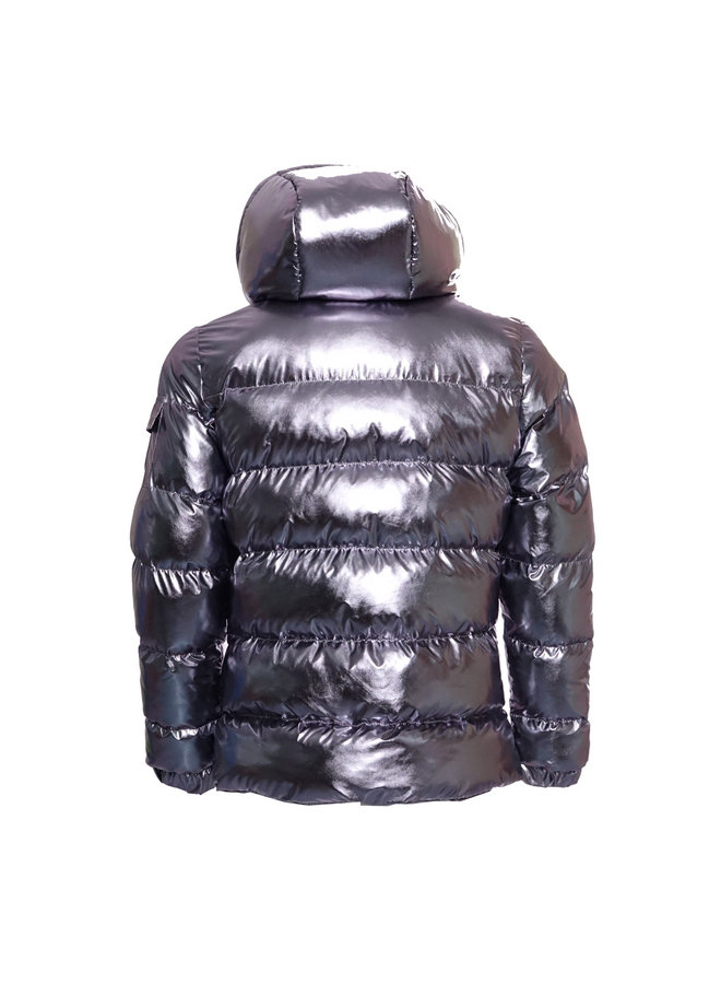 Conflict Puffer Jacket Silver