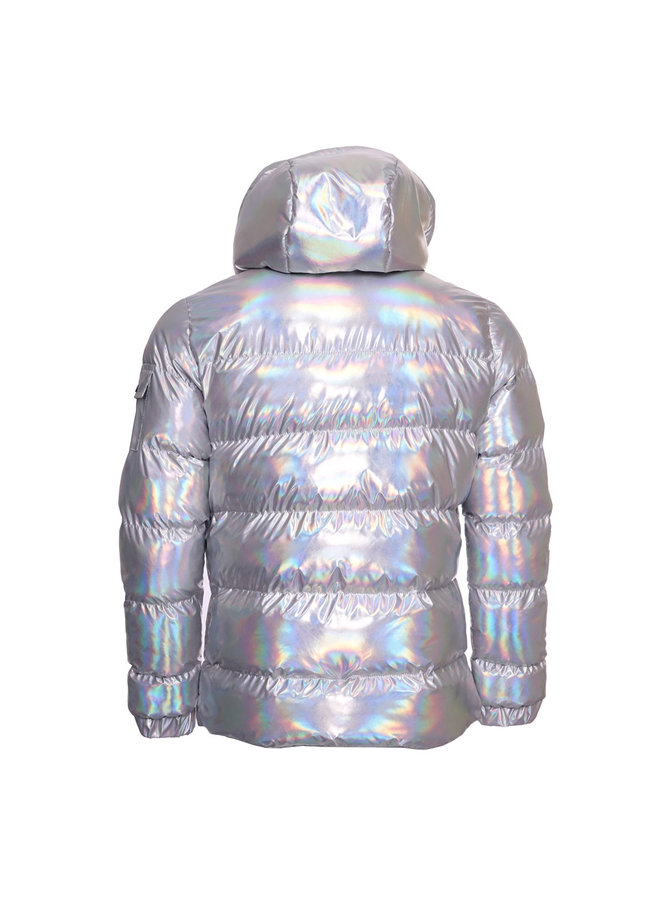 Conflict Puffer Jacket Hologram