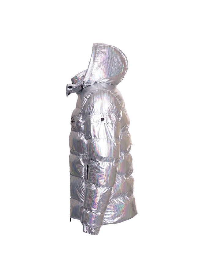 Conflict Puffer Jacket Hologramm gestreift