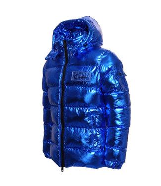 Conflict Conflict Puffer Jacket Metallic Blue