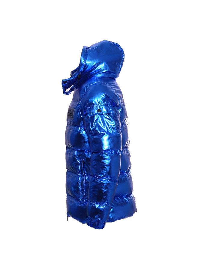 Conflict Puffer Jacket Metallic Blue