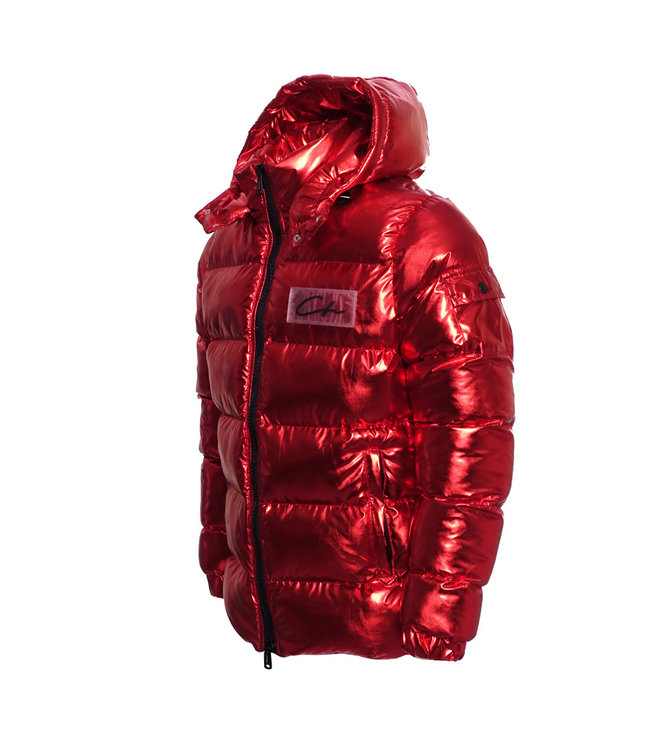 Conflict Conflict Puffer Jacket Metallic Red