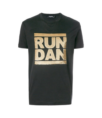 Dsquared2 Dsquared2 Tişört Run Dan Black