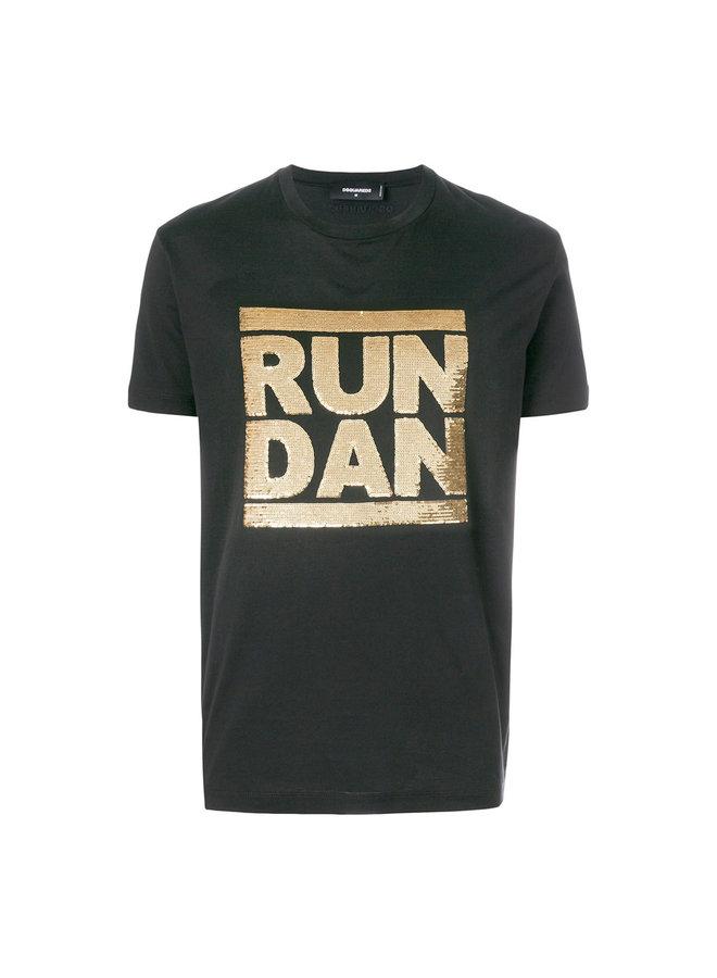 Dsquared2 T-Shirt Run Dan Black