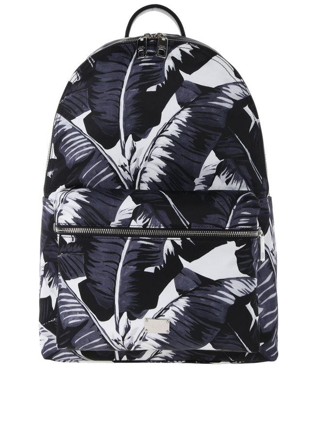 Dolce & Gabbana Rugzak Palm Leafes Black