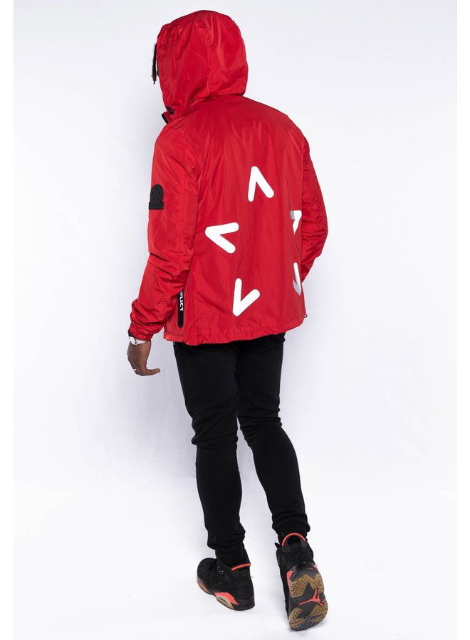 Conflict Windbreaker Reflective Red