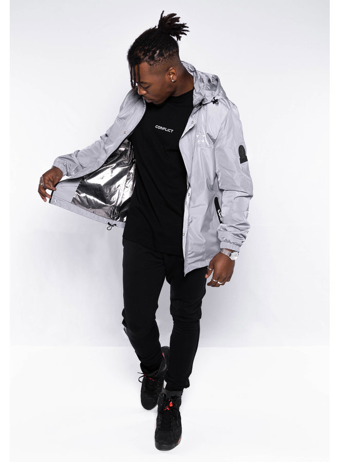 Conflict Windbreaker Reflective Grey