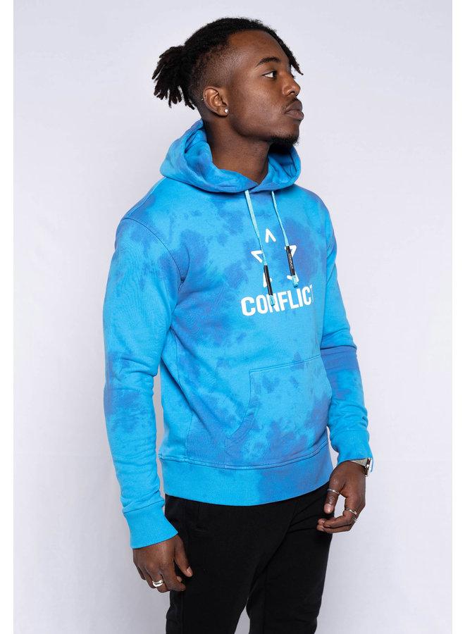 Conflict Hoodie Tie Dye Blue