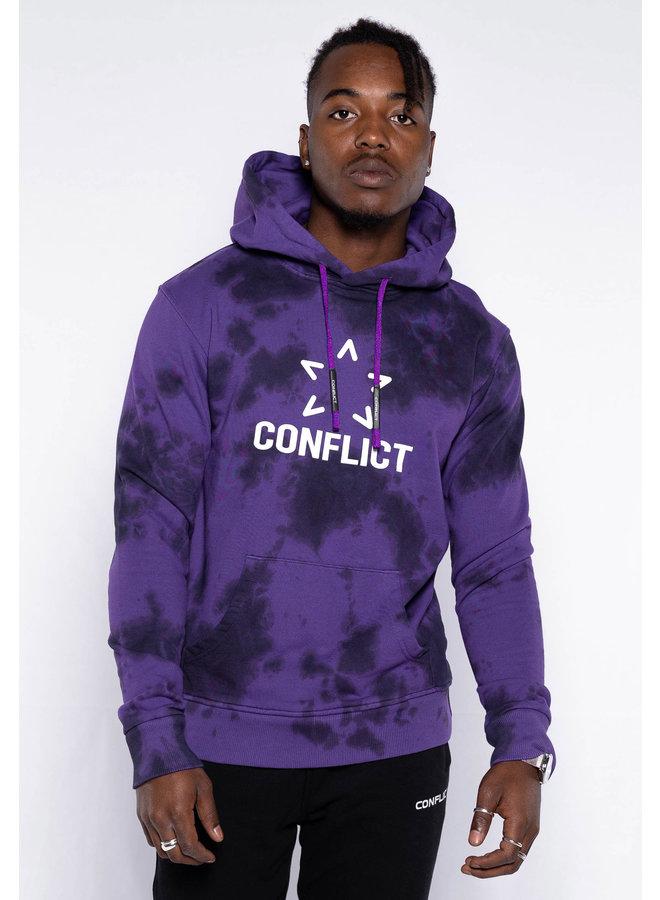 Conflict Hoodie Tie Dye Purple
