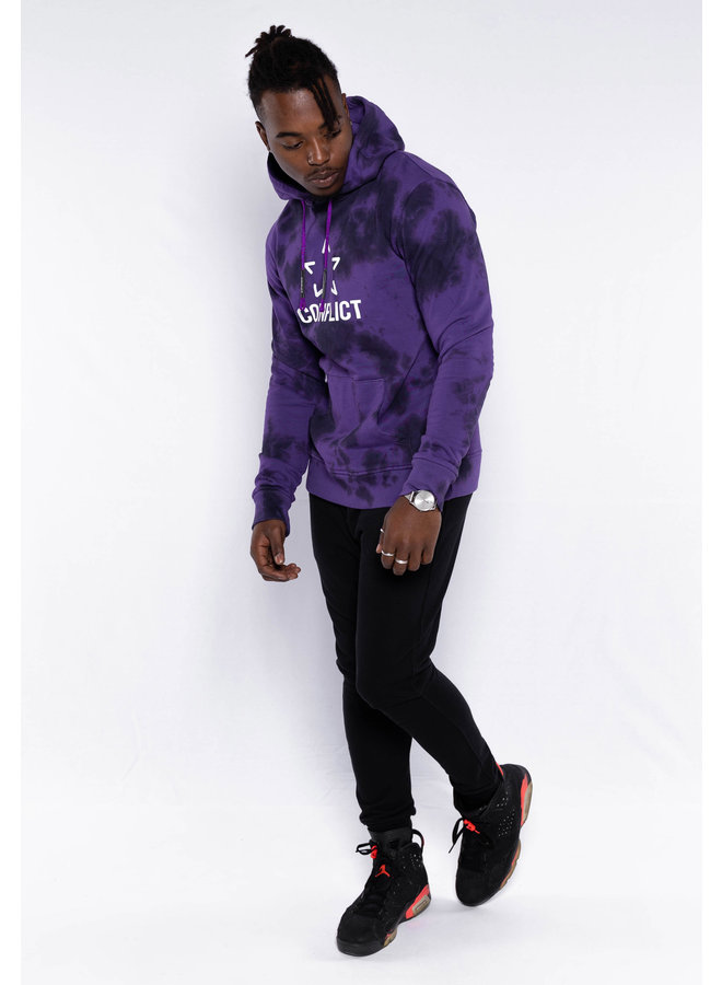 Conflict Hoodie Tie Dye Lila