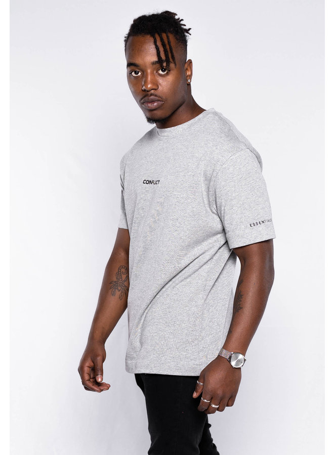 Conflict T-Shirt Essentials Grey Melange