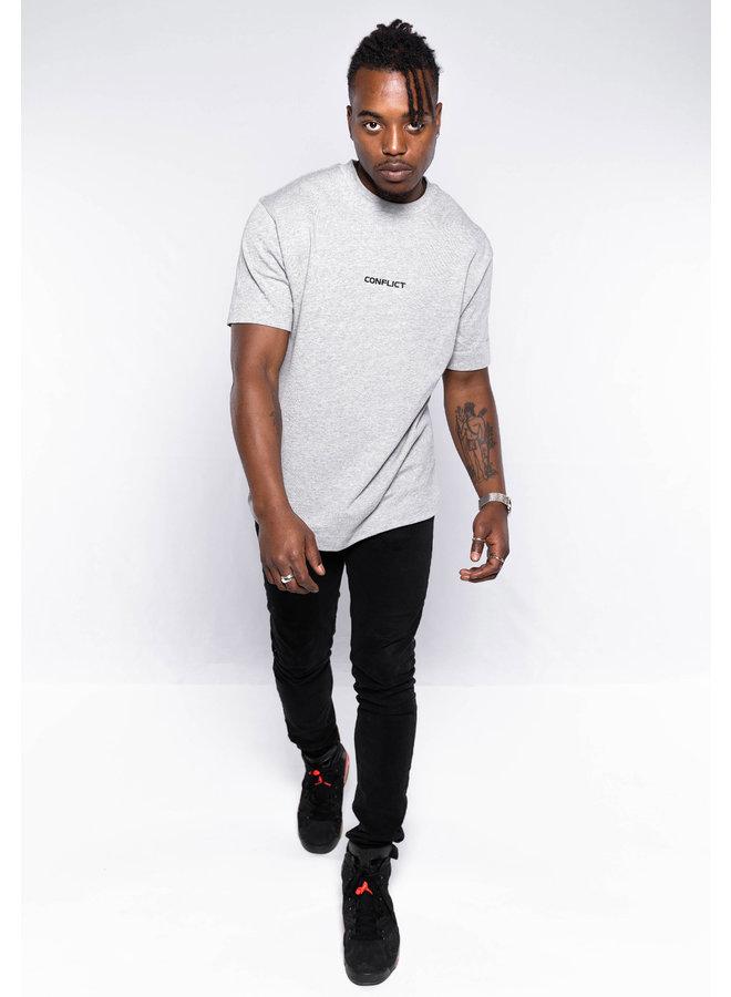 Conflict T-Shirt Essentials Grau Melange