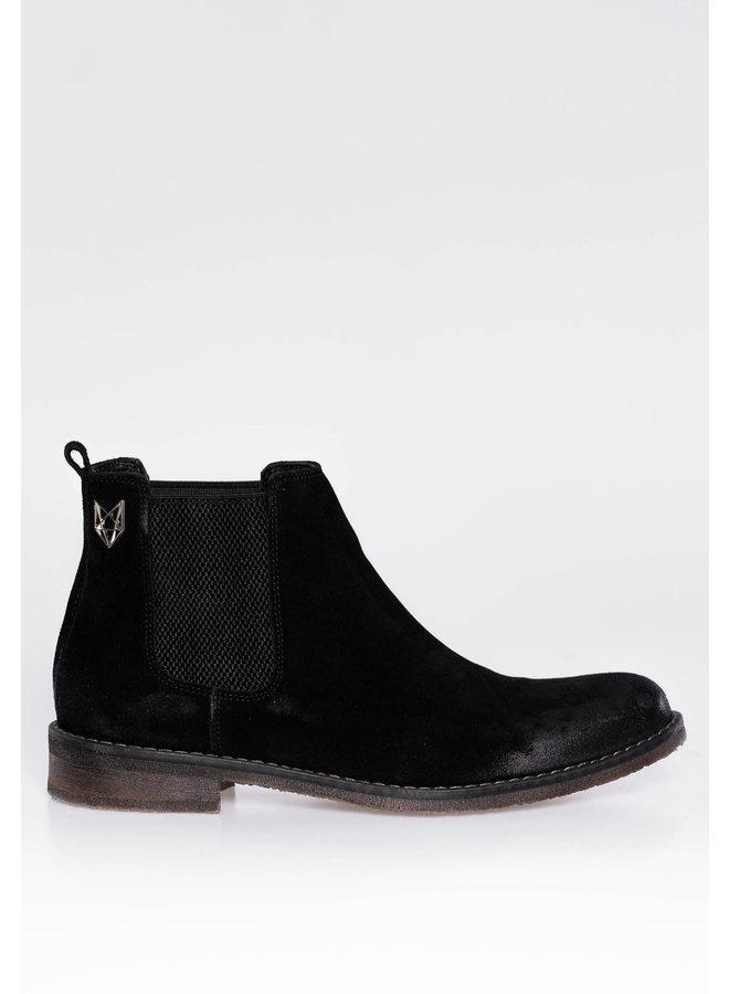 YCLO Suede Chelsea Boots Jorgen Black